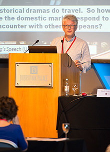 Andrew Higson delivers presentation on the MECTES project at Hera Launch Event, Dubrovik, October 1, 2013