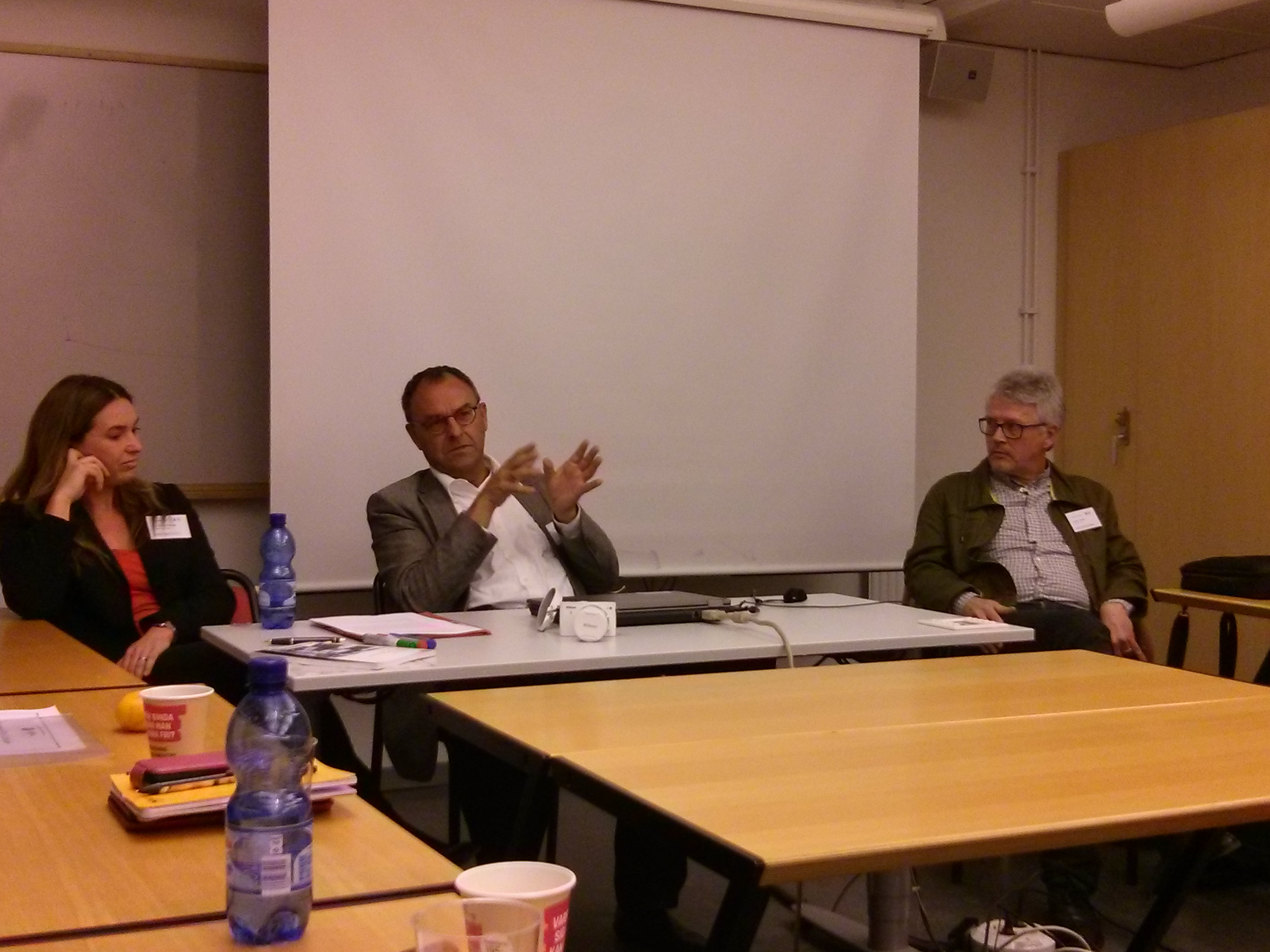 Eva Novrup Redvall, Ib Bondebjerg and Andrew Higson at the ECREA European Film Cultures conference, Lund University, November 8-9, 2013