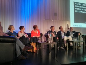 Discussing film financing at the Making European Film and Television conference.